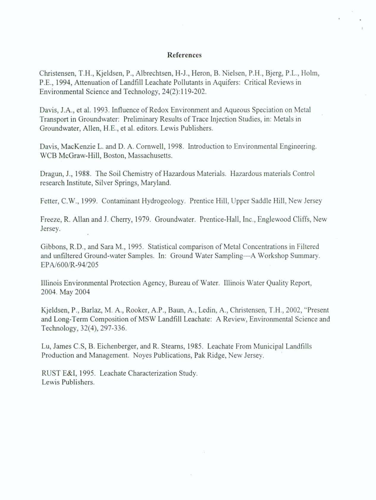 BEFORE THE ILLINOIS POLLUTION CONTROL BOARD (Service List ...